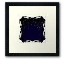 Pixel Sky- Night Framed Print