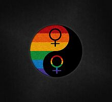 Lesbian Pride Yin and Yang by LiveLoudGraphic