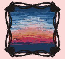 Pixel Sky- Sunrise Kids Tee