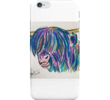 Rainbow highland cow iPhone Case/Skin