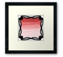 Pixel Sky- Evening Framed Print
