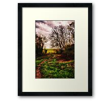 Muddy Country Path HDR Framed Print