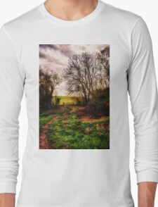 Muddy Country Path HDR Long Sleeve T-Shirt