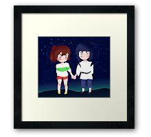 Spirited Away- Chihiro and Haku Framed Print
