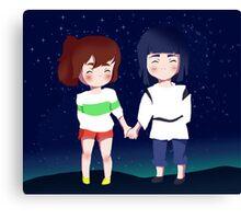 Spirited Away- Chihiro and Haku Canvas Print