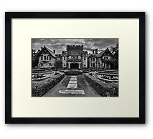 Hatley Castle Black And White Vintage Photo Framed Print