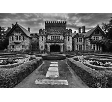 Hatley Castle Black And White Vintage Photo Photographic Print