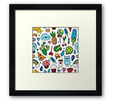 Fun patches Framed Print