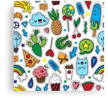 Fun patches Canvas Print