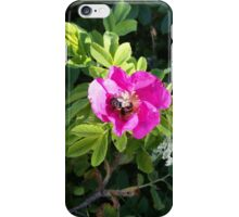 Pink Rose with a Bee iPhone Case/Skin