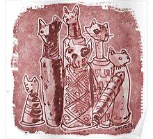 cat mummies Poster