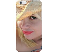 Young attractive cowgirl iPhone Case/Skin