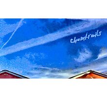 Chemtrails Photographic Print