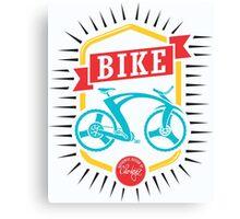 Bike Pop Art White Canvas Print
