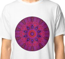 Red and Purple Tribal Mandala Classic T-Shirt