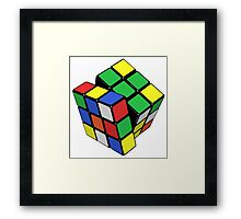 Rubik's Cube - Get Twisted Framed Print