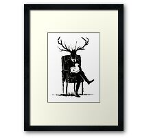 Hannibal Lecter NBC Stag Antlers Lamb Framed Print