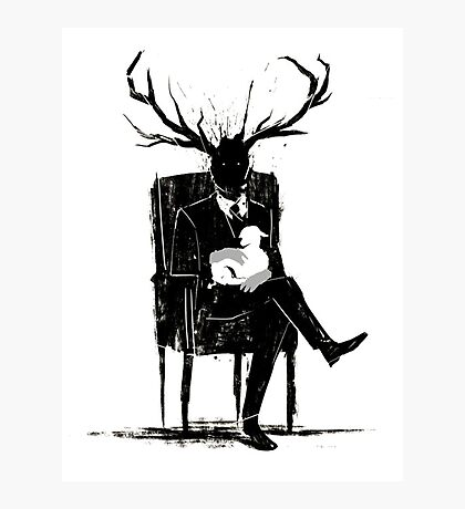 Hannibal Lecter NBC Stag Antlers Lamb Photographic Print
