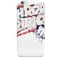 throat punch america flag t shirt iPhone Case/Skin