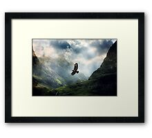 The Light of Flying Framed Print