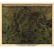 Vintage Gettysburg Pennsylvania Park Map (1916) Photographic Print