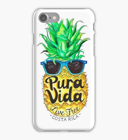 Pineapple in Sunglasses Costa Rica Summer Pure Life iPhone Case/Skin