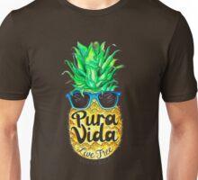 Pineapple in Sunglasses Costa Rica Summer Pure Life Unisex T-Shirt