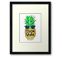 Pineapple in Sunglasses Costa Rica Summer Pure Life Framed Print