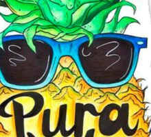 Pineapple in Sunglasses Costa Rica Summer Pure Life Sticker