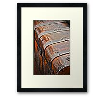 Vintage Bag is Packed Framed Print