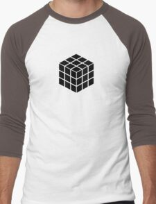 Rubik's Cube - Black Men's Baseball ¾ T-Shirt