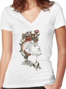 Will Graham NBC Mind Drawing  Women's Fitted V-Neck T-Shirt
