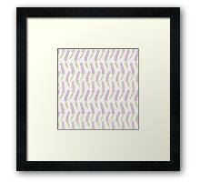 Cute lavender  seamless pattern. Romantic pastel wallpaper. Framed Print