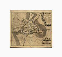 Vintage Map of Ghent Belgium (1709) Unisex T-Shirt