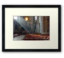 ... and there was light. ... Framed Print