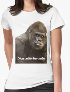 Dicks out for Harambe Womens Fitted T-Shirt