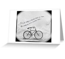 Only by riding Greeting Card