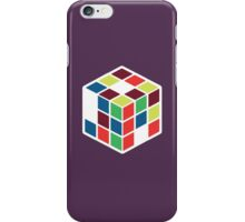Rubik's Cube - Neon Body White Large iPhone Case/Skin