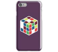 Rubik's Cube - Neon Body White Large iPhone Case/Skin