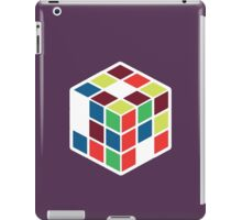 Rubik's Cube - Neon Body White Large iPad Case/Skin