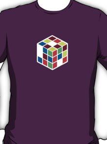 Rubik's Cube - Neon Body White Large T-Shirt