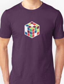 Rubik's Cube - Neon Body White Large T-Shirt