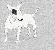 Cool Bull Terrier Doodle Kids Tee