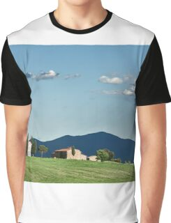 Vitaleta chapel in Val d'Orcia, Tuscany Graphic T-Shirt