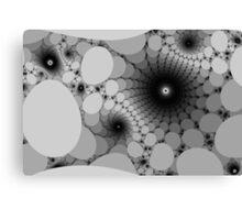 Plate Spirals in Monochrome Canvas Print