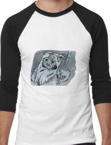 Ewok!! Mixed Media Illustration  Men's Baseball ¾ T-Shirt