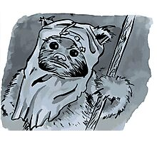 Ewok!! Mixed Media Illustration  Photographic Print