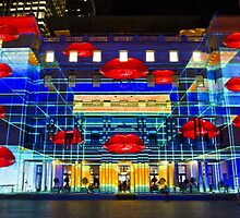 Hot Lips - Customs House - Sydney Vivid Festival - Australia by Bryan Freeman
