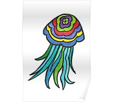Colourful Jellyfish Poster