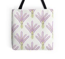 Lavender bouquet seamless pattern. Cute nature background.  Tote Bag